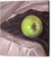 Granny Apple On Velvet And Satin - Sold Canvas Print