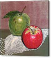 Granny Smith With Pink Lady Canvas Print