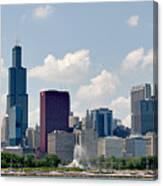 Grant Park And Chicago Skyline Canvas Print
