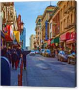 Grant Street In Chinatown Canvas Print