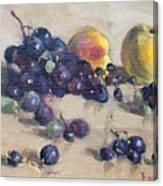 Grape And Peach Canvas Print