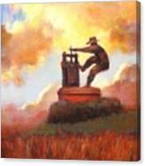Grape Crusher Sunset Cloud Napa Valley Canvas Print