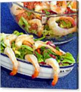 Grapefruit And Shrimp Salad Canvas Print
