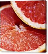 Grapefruit Halves Canvas Print