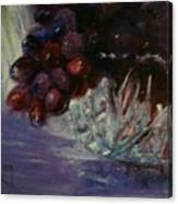 Grapes And Glass Canvas Print