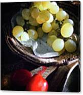 Grapes And Tomatoes Canvas Print
