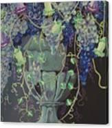 Grapes Vase II Canvas Print