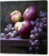 Grapes With Apples Canvas Print