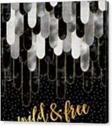 Graphic Art Feathers Wild And Free Spirit - Sparkling Metals Canvas Print