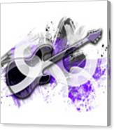 Graphic Art Guitar - Purple Canvas Print