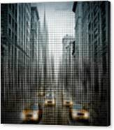 Graphic Art Nyc 5th Avenue Traffic V Canvas Print