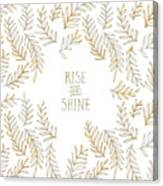 Graphic Art Rise And Shine - Gold And Marble Canvas Print