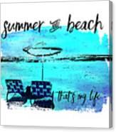 Graphic Art Summer And Beach Canvas Print
