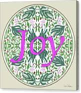 Graphic Designs Button Joy Canvas Print