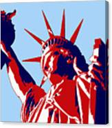 Graphic Statue Of Liberty Red White Blue Canvas Print