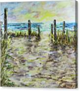 Grassy Beach Post Morning 2 Canvas Print
