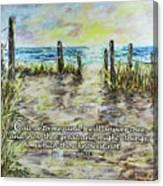 Grassy Beach Post Morning 2 Jeremiah 33 Canvas Print