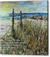 Grassy Beach Post Morning Psalm 118 Canvas Print