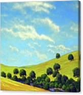 Grassy Hills At Meadow Creek Canvas Print
