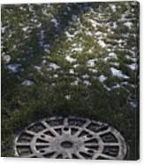 Grassy Manhole Canvas Print