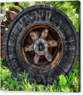Gravel Pit Goodyear Truck Tire Canvas Print
