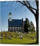 Graveyard Church Canvas Print