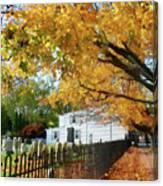 Graveyard In Autumn Canvas Print