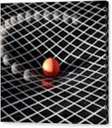 Gravity Simulation Canvas Print