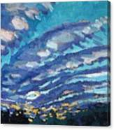 Gravity Storm Canvas Print