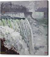 Gray And Cold At American Falls Canvas Print