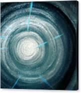 Gray-blue Star. Sparkling Light Canvas Print