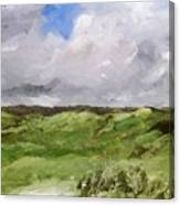 Gray Dunes Canvas Print