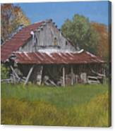 Gray Farm Building Canvas Print