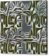 Gray Pattern,abstraction Canvas Print