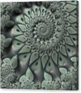 Gray Spiral Canvas Print