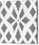 Gray Twisted Braids Canvas Print