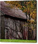 Gray Weathered Barns Number Three Canvas Print