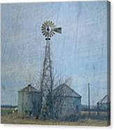 Gray Windmill 2 Canvas Print