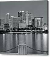 Grayscale By The River 2017 Canvas Print