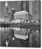 Grayscale Columbus Canvas Print