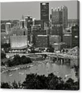 Grayscale Pittsburgh Canvas Print