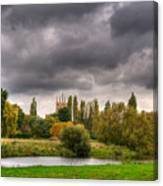 Great Barford River View Canvas Print