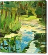 Great Brook Farm Canoe Launch Canvas Print