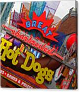 Great Charbroiled Hot Dogs Canvas Print