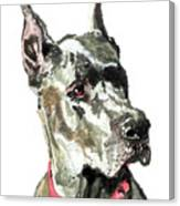 Great Dane Watercolor Canvas Print