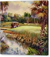 Great Day For Golf Canvas Print