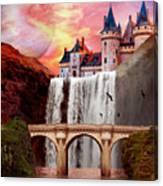 Great Falls Castle Canvas Print