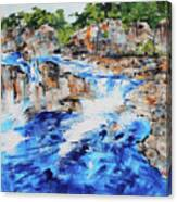 Great Falls Waterfall 201826 Canvas Print