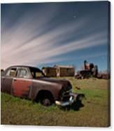 Abandoned Ford Car At Abandoned Farm Canvas Print
