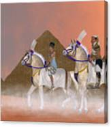Great Pyramids And Nobility Canvas Print